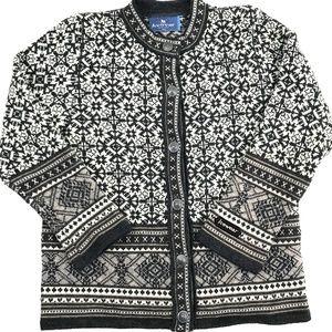 Icelandic 100% Wool Hand Knit Cardigan